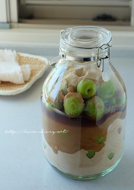 梅ジュース 発酵