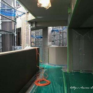 共用廊下が工事現場のよう|マンション大規模修繕工事その3