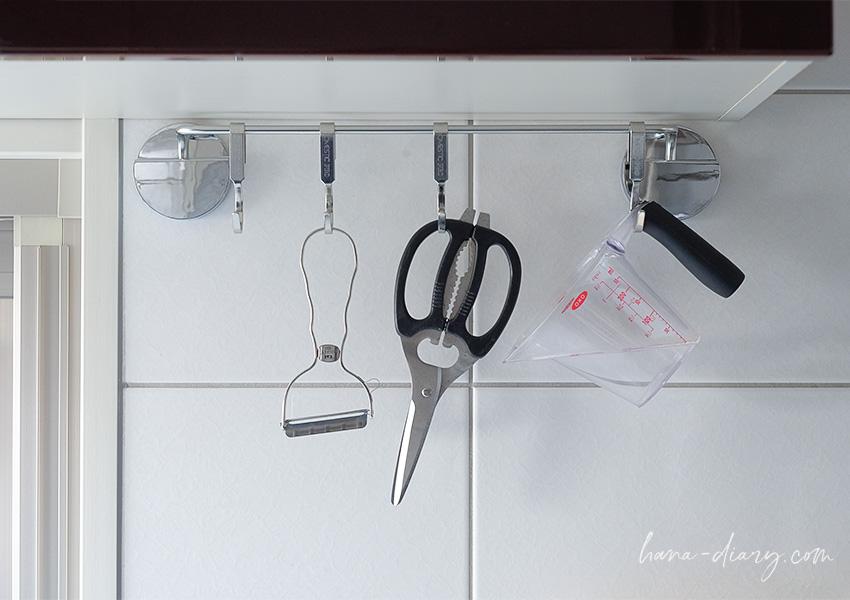 キッチンぶら下げ(吊り下げ)収納、KEYUCA(ケユカ)シンプルバータオルハンガー